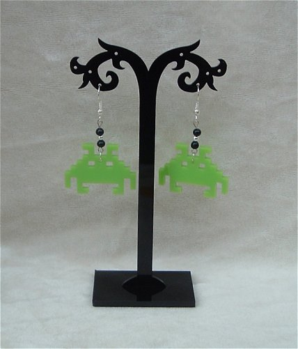 Obstar_Earring_spaceinvadergreen